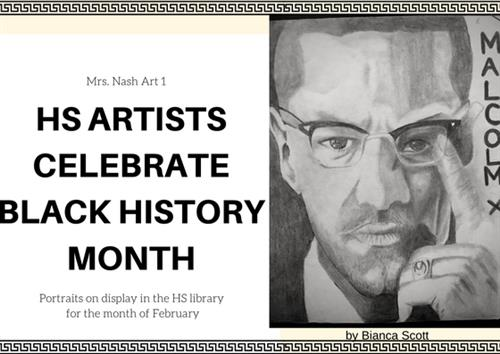 Black History Month, Celebrated in Art at HS