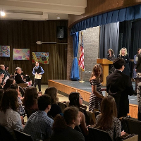 Blue Mountain Middle School National Junior Honor Society Induction