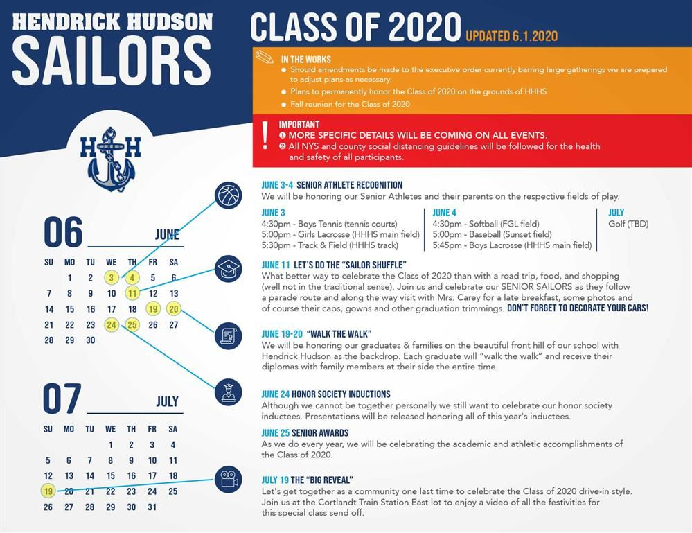 Slate of Ceremonies and Events Honor the Class of 2020