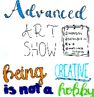 Advanced Art Show at Blue Mountain Middle School, December 16