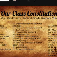 Second Graders Learn About the Constitution